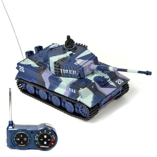 Mini GERMAN TIGER 1:72 modrý