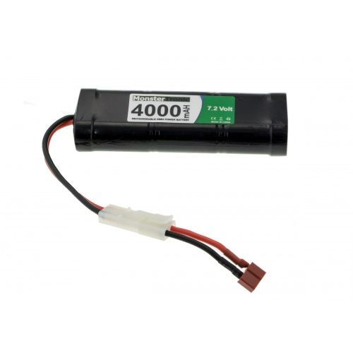 Ni-Mh AKU 4000 mAh 7.2 V T-plug + Tamyia