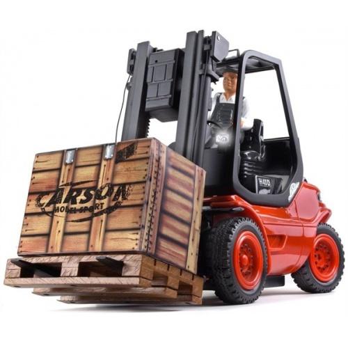 Vysokozvižný vozík LINDE červený