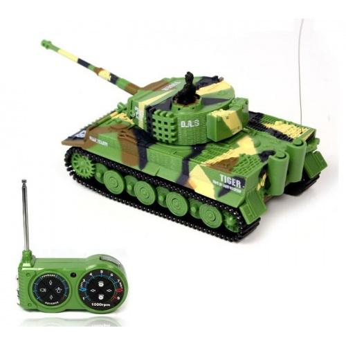 Mini GERMAN TIGER 1:72 zelený