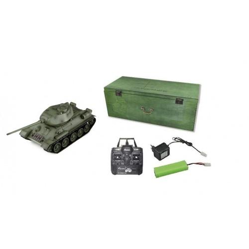 Tank T34/85 BB 2,4Ghz 1:16 s dřevěným kufrem