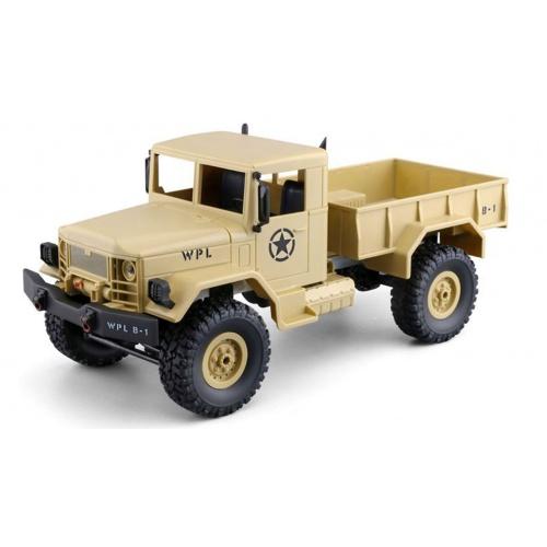 Vojenský truck 1:16 pískový 4WD RTR
