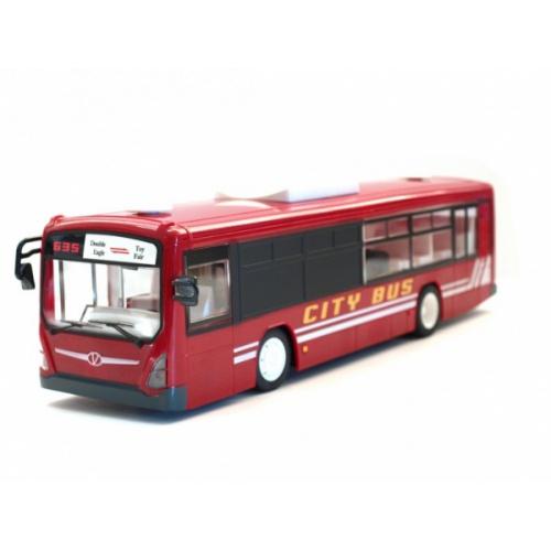 Městský autobus s otevíracími dveřmi 33cm červený