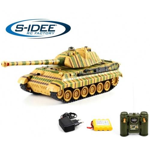 Bojující tank King Tiger 2,4 GHz s infra dělem, bojující 1:28