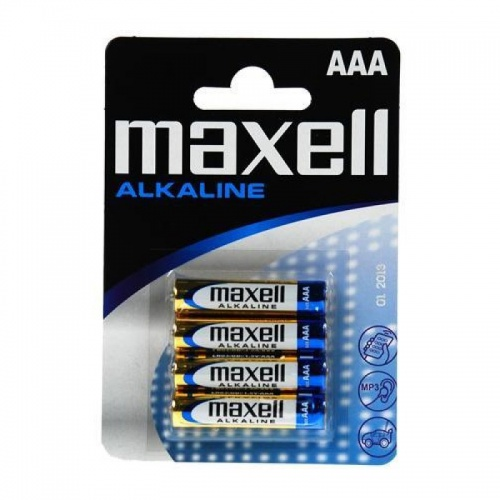 MAXELL AAA LR3 1,5V/1000mAh Alkaline, bllister 4ks