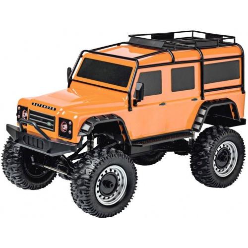 LAND ROVER DEFENDER Rock Crawler 4WD 1:8, oranžová, 2,4 Ghz, LED