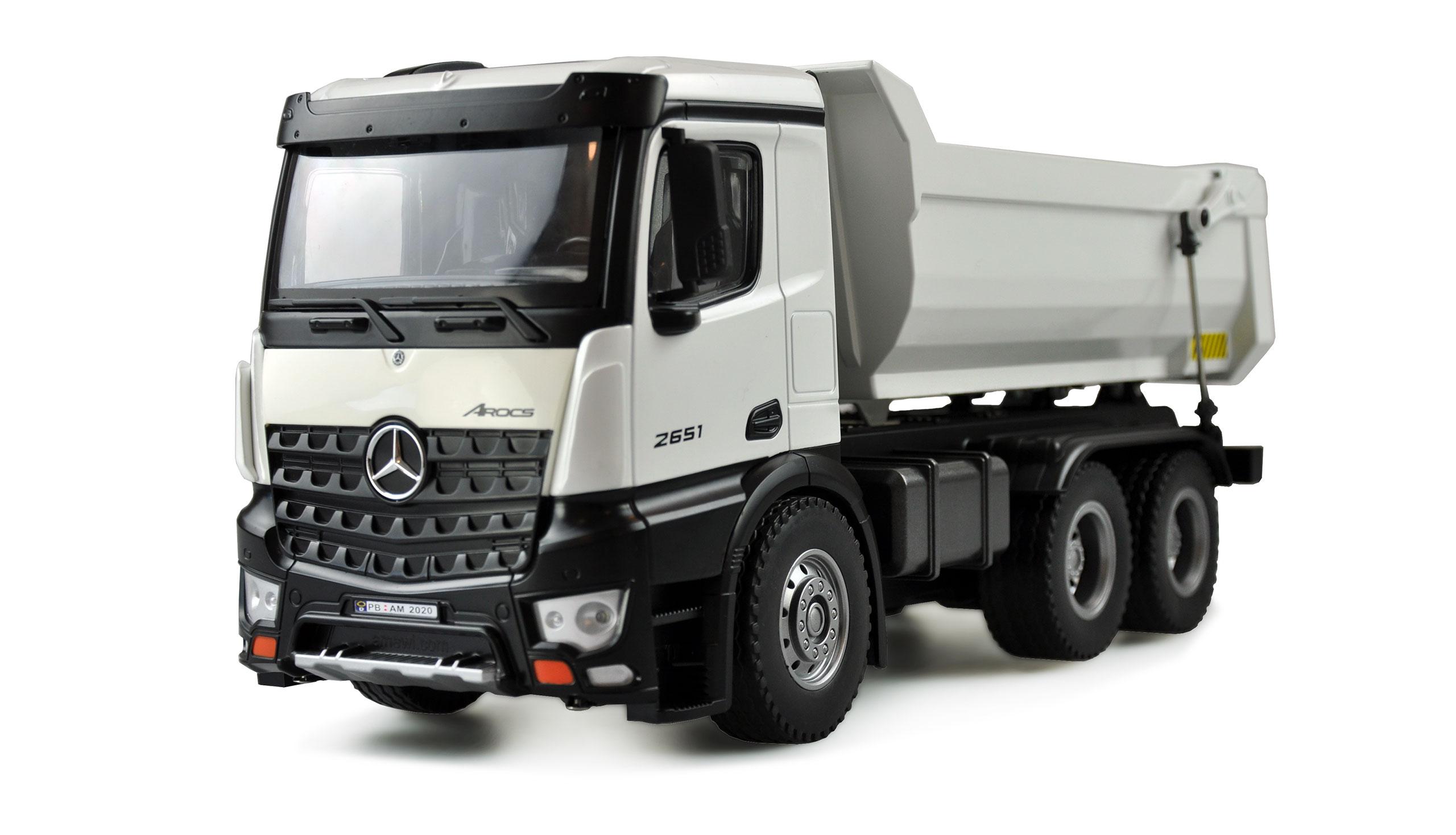 Mercedes-Benz Arocs, profesionální celokovový plně proporcionální sklápěč, nosnost 3,5 kg