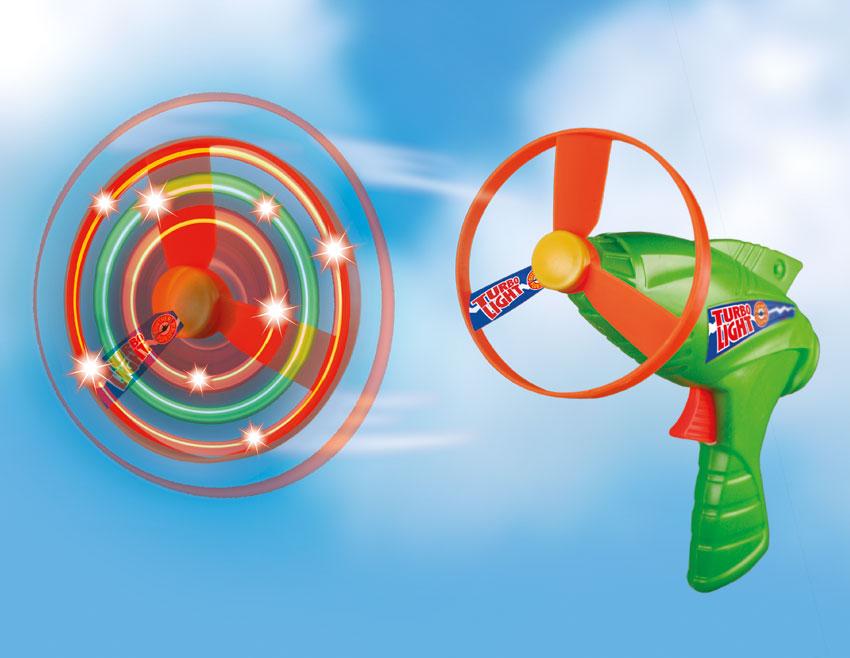 TURBO LIGHT vystřelovací vrtulky, 2 kusy, LED osvětlení,