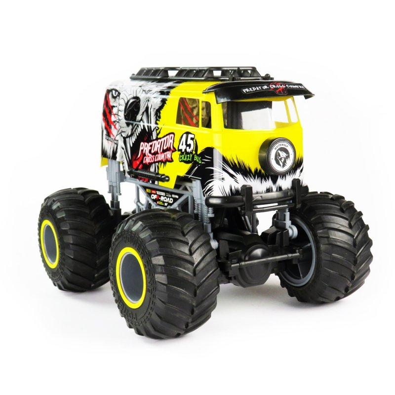 Big Wheel Cars 1:16 Predator Cross Country, 2,4 Ghz, 2WD, RTR, žlutá