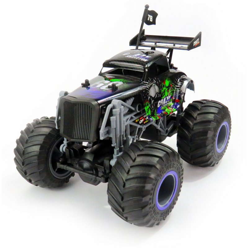 Big Wheel Cars 1:16 Crazy Skeleton, 2,4 Ghz, 2WD, RTR, černá
