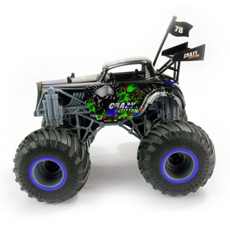 Big Wheel Cars 1:16 Crazy Skeleton, 2,4 Ghz, 2WD, RTR, černá