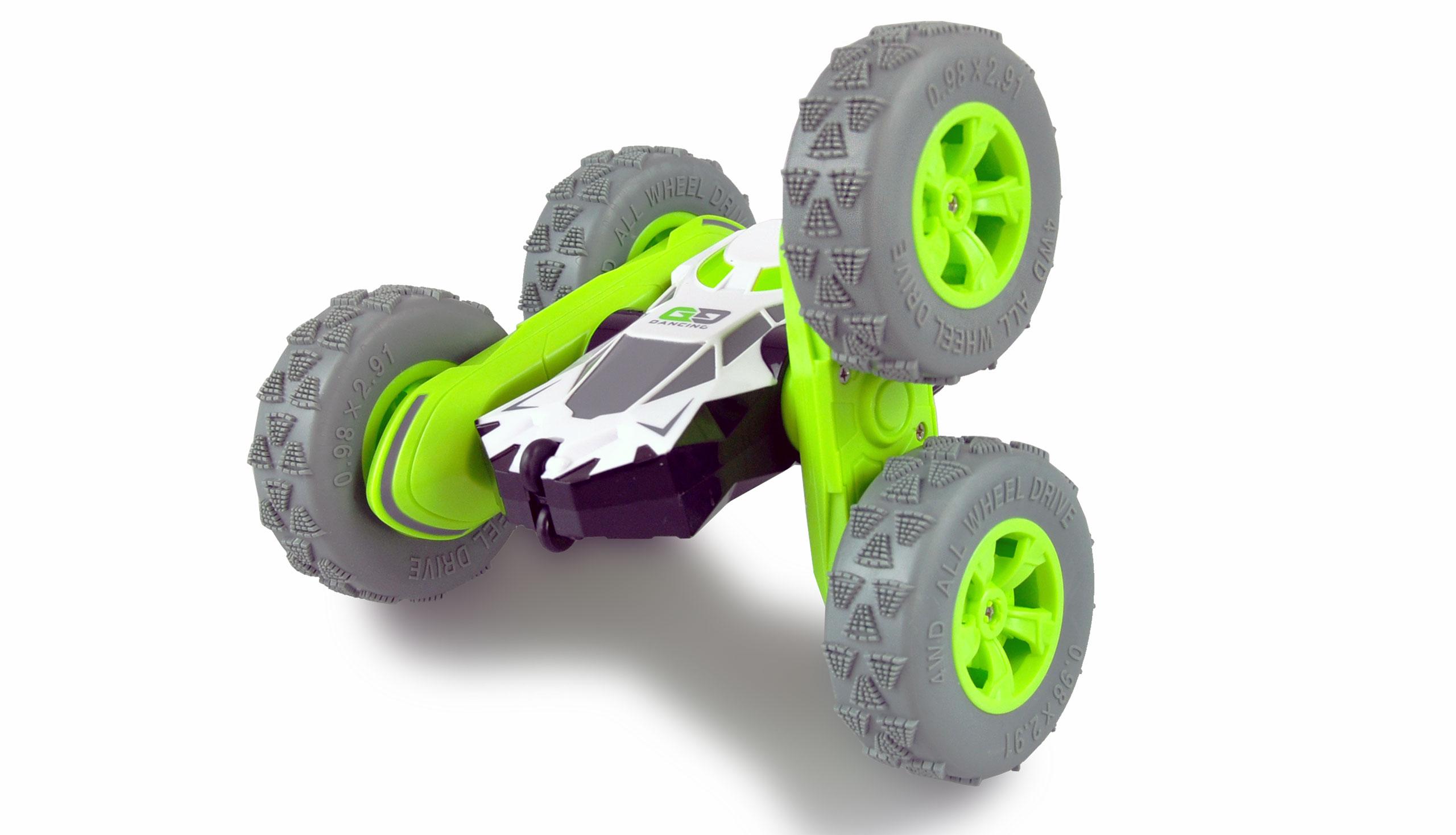 Big SpinStar, oboustranné auto, 4WD, otočné nápravy, 2,4 GHz, 100% RTR, zelený