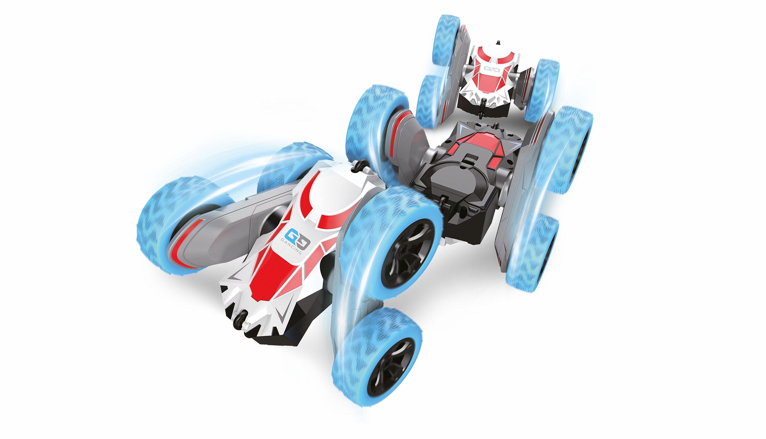 Big SpinStar, oboustranné auto, 4WD, otočné nápravy, 2,4 GHz, 100% RTR, modrý
