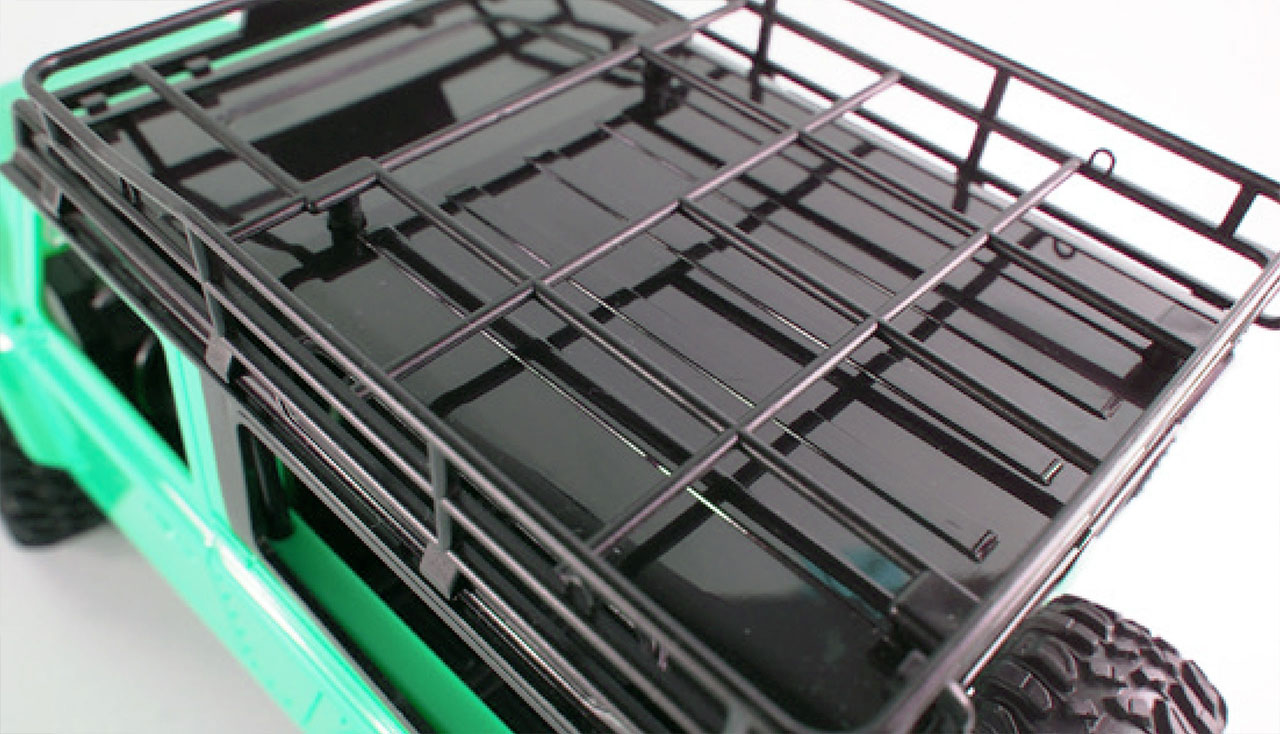 D90 Rock Crawler Defender 1:12, 4WD, 2,4 GHz, LED, 100% RTR, proporcionální jízda, zelená