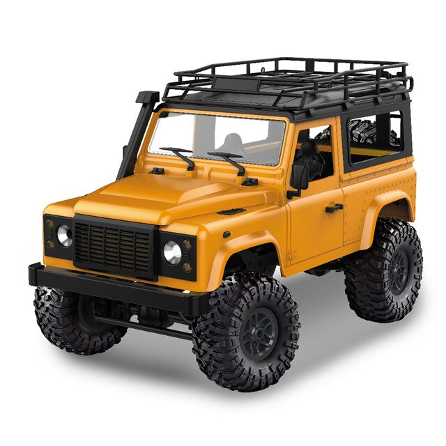 D90 Rock Crawler Defender 1:12, 4WD, 2,4 GHz, LED, 100% RTR, žlutá