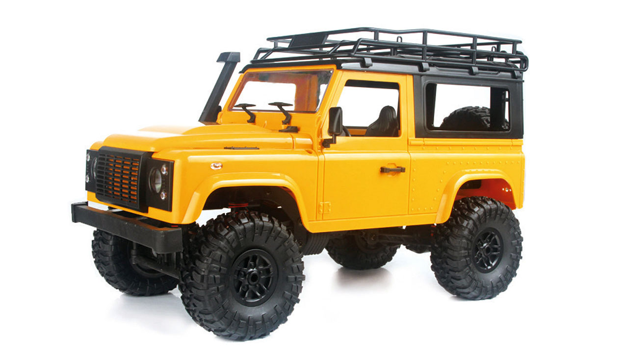 D90 Rock Crawler Defender 1:12, 4WD, 2,4 GHz, LED, 100% RTR, proporcionální jízda, žlutá