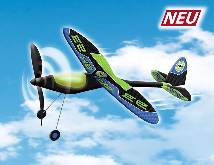 APEX letadlo na gumu s ocelovou konstrukcí křdel, 49x50 cm