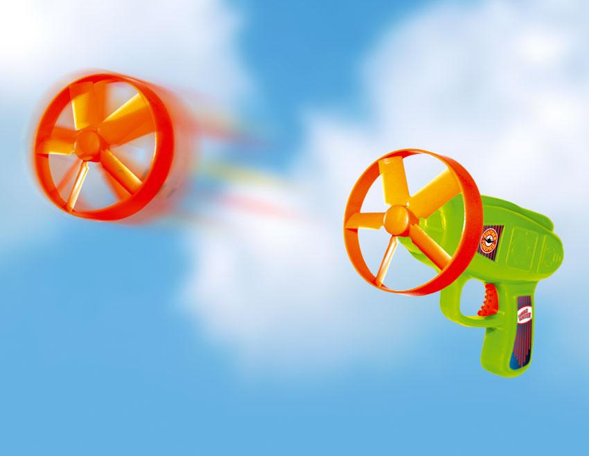 TURBOBLASTER vystřelovací vrtulky, 6 kusů s odpalovačem