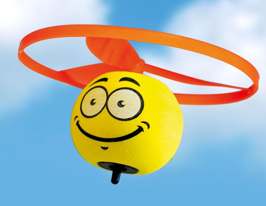 SPIN BALL SMAJLÍK vystřelovací vrtulka