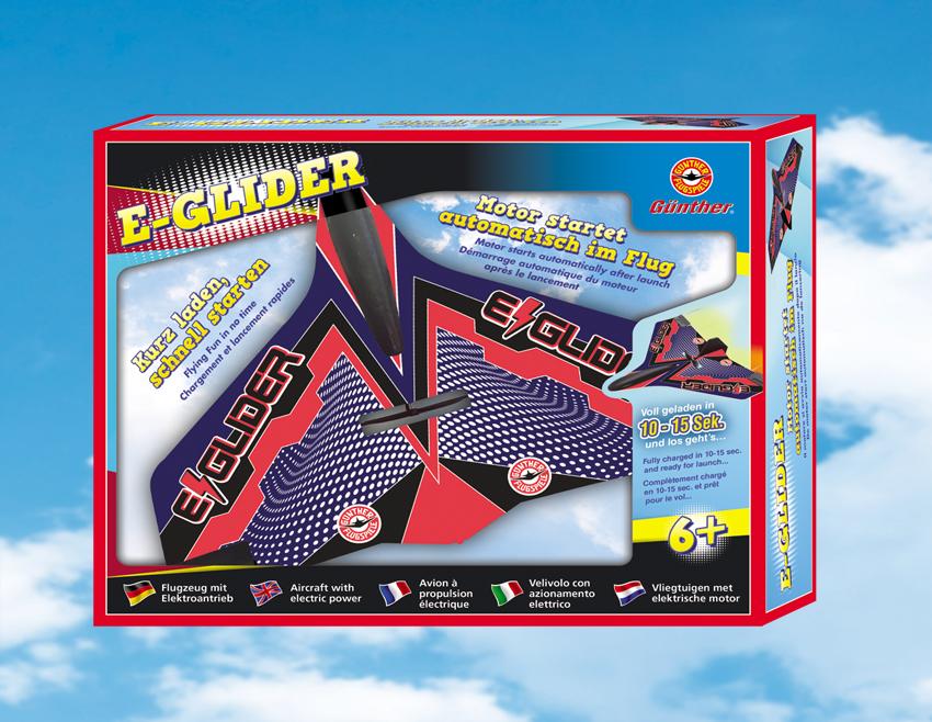 E-GLIDER házedlo s elektropohonem 19,5x23 cm