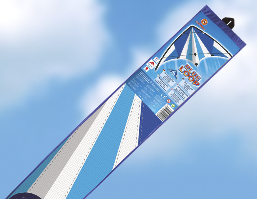 BLUE LOOP řiditelný drak, 130x69 cm