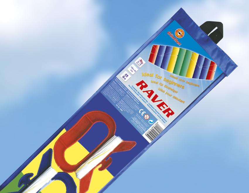 RAVER řiditelný drak, 100x45 cm