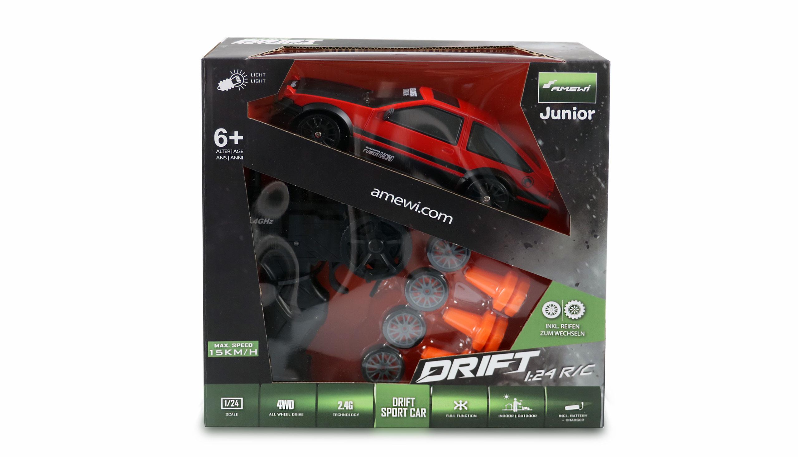 Drift Sport Car Toyota Corolla, 4WD, 1:24, 2,4 GHz, RTR