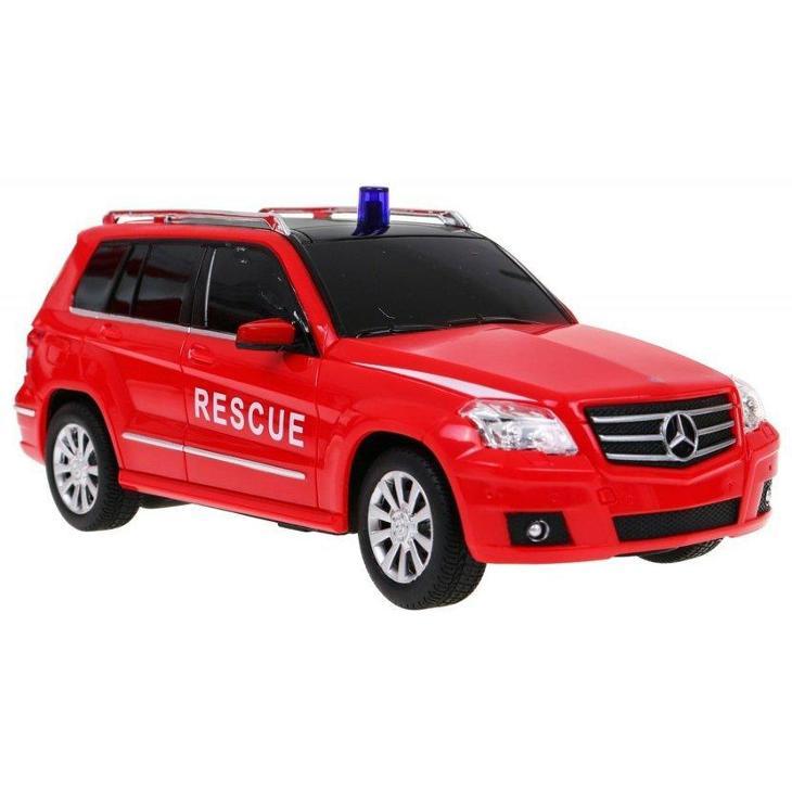 Sada 2v1 Licencované Hasičské vozy Mercedes-Benz 1:14 a 1:24