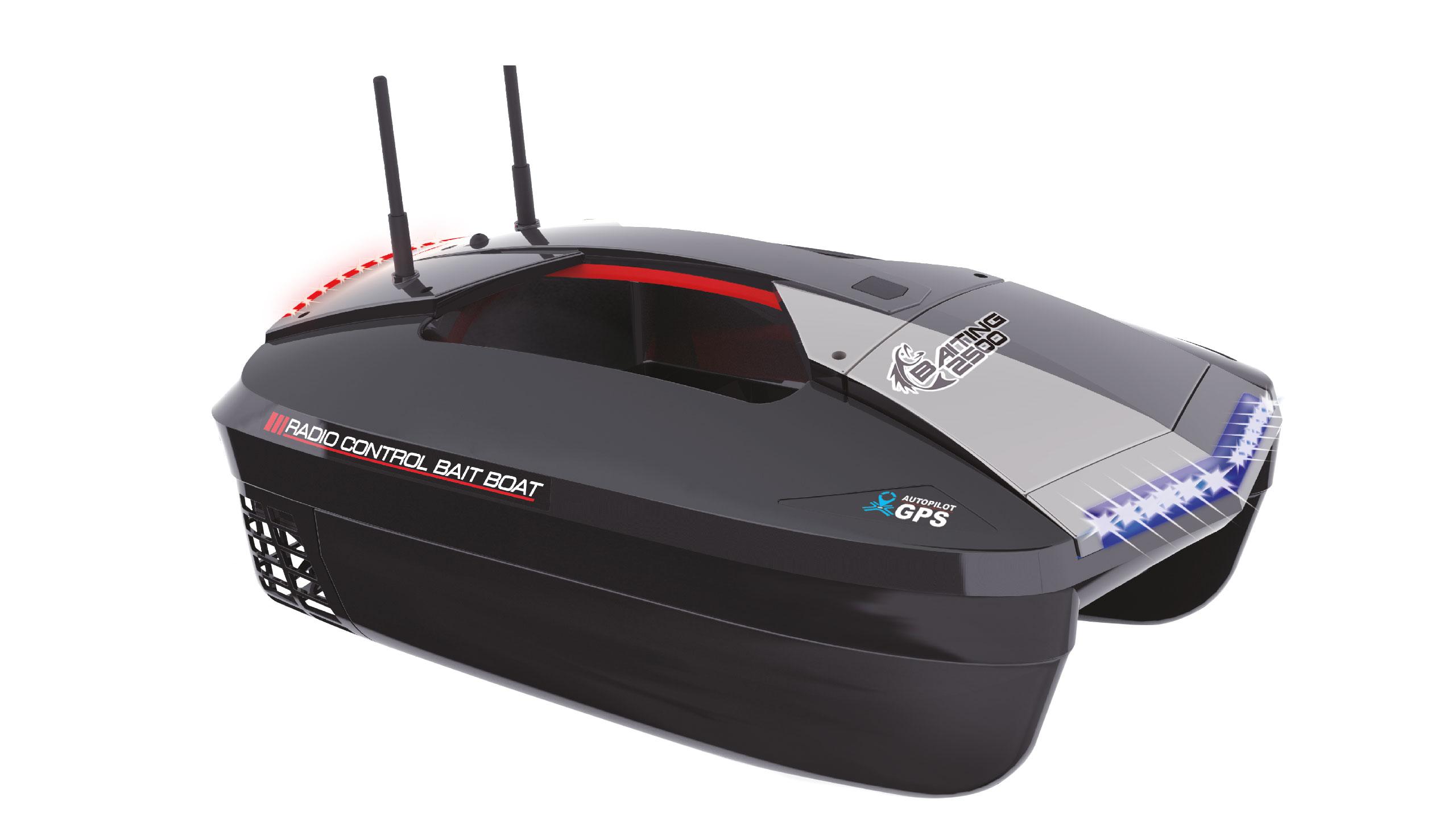 Zavážecí loď B2500 GPS pro 2,5 kg krmiva, brushless, 2,4 GHz, RTR  s taškou