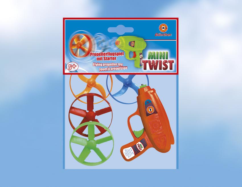 MINI TWIST vystřelovací vrtulky, 4 kusy s odpalovačem