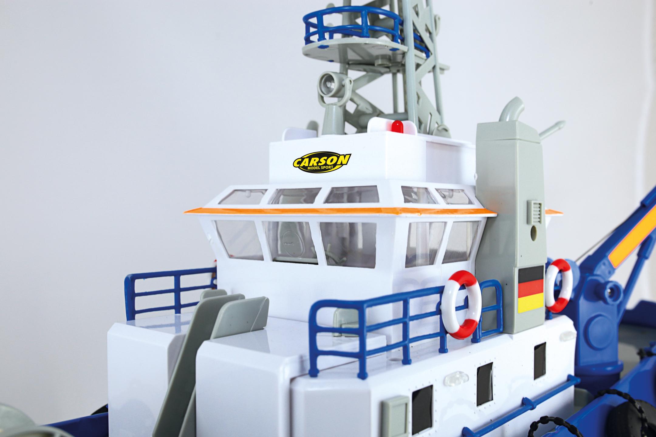 Pobřežní stráž Küstenwache, loď s funkčním vodním dělem RTR sada