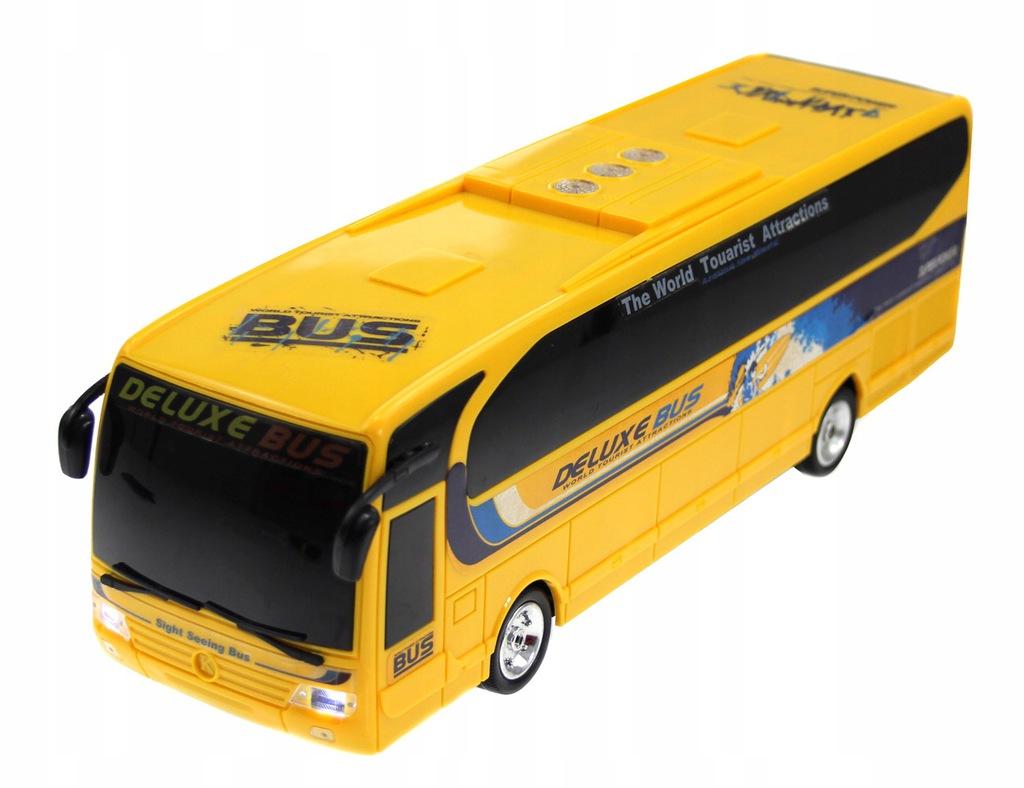 De Luxe BUS s LED osvětlením, RC dálkový autobus, 36 cm