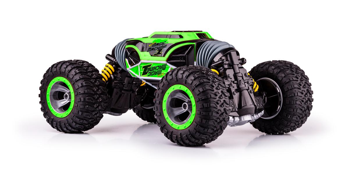 MAGIC MACHINE, oboustranný STUNT model, 1:10, 4WD, 2.4 GHz, 100% RTR, zelená