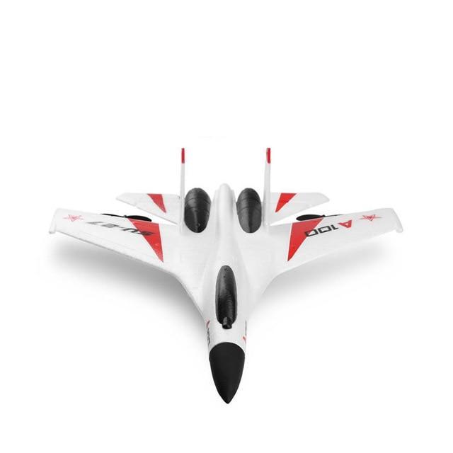 SU-27 RC letadlo s 3D stabilizací a ovládanou výškovkou, 335mm, RTF, bílá