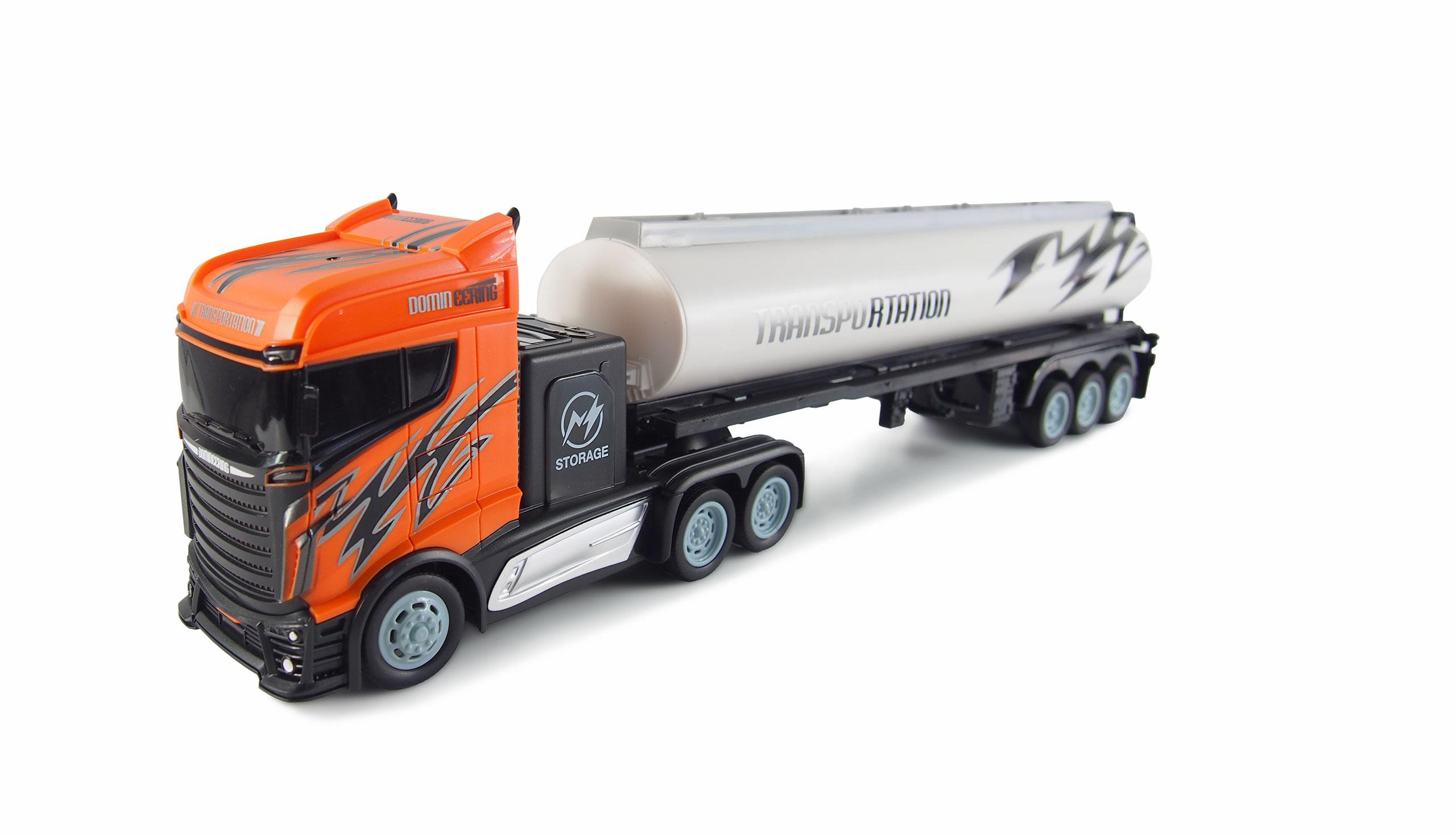 Kamion s cisternou 2WD, 1:16, bohaté příslušenství, semafor, radar, RTR