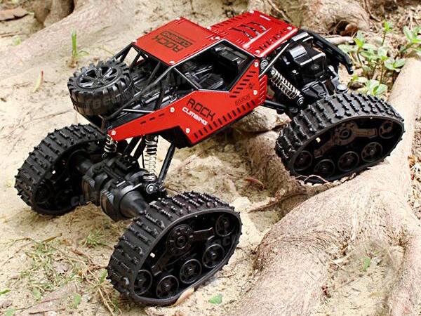 Strong Climbing Car 4WD METAL, 1:16, ALU karoserie, kola i pásy, RTR, červený