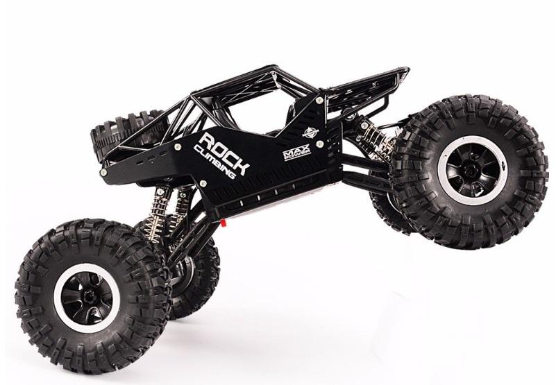 Strong Climbing Car 4WD METAL, 1:16, ALU karoserie, kola i pásy, RTR, černý