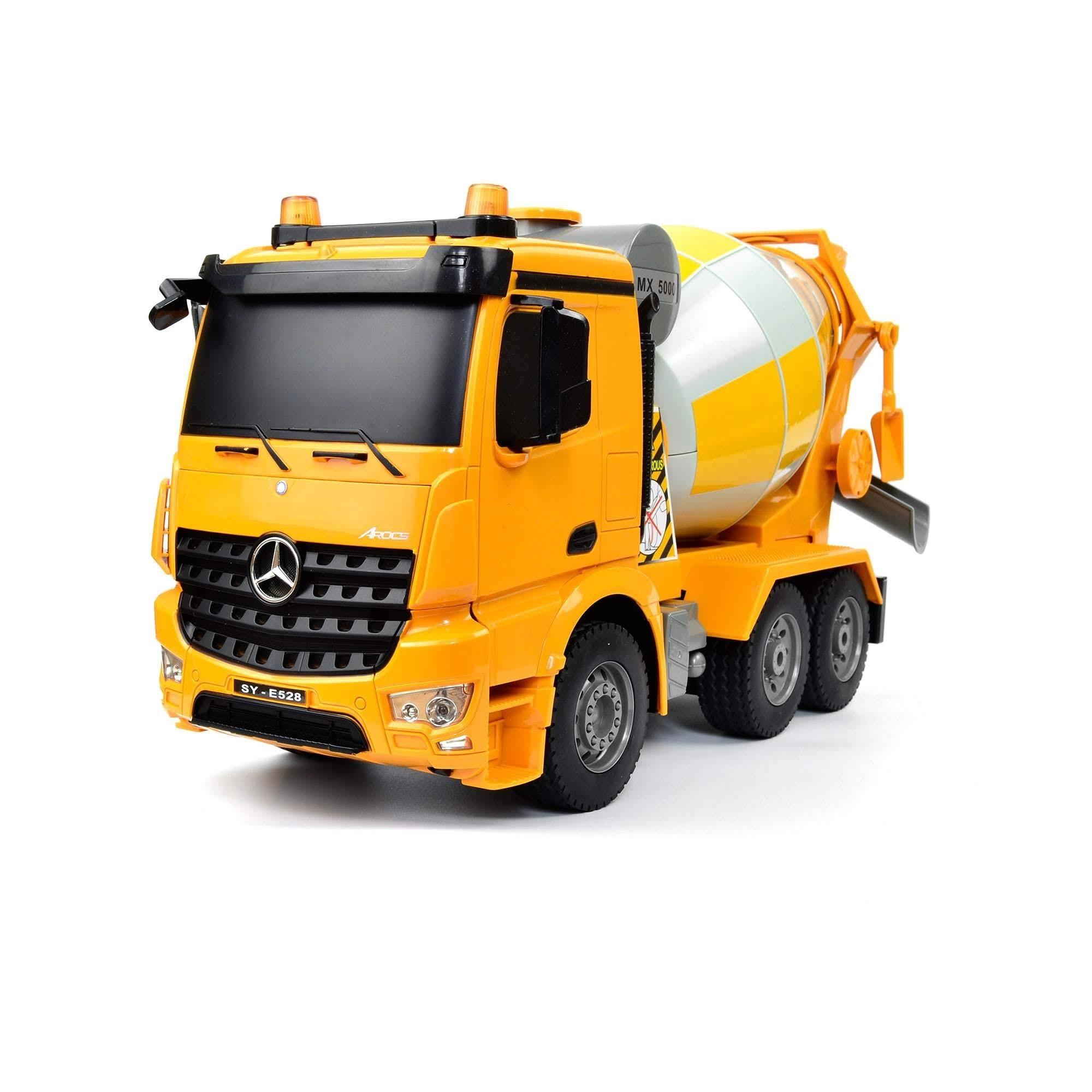 Merecedes-Benz Arocs CEMENT MIXER 4WD, 1:20, liceneováno, funkční mix, zvuk, LED, RTR