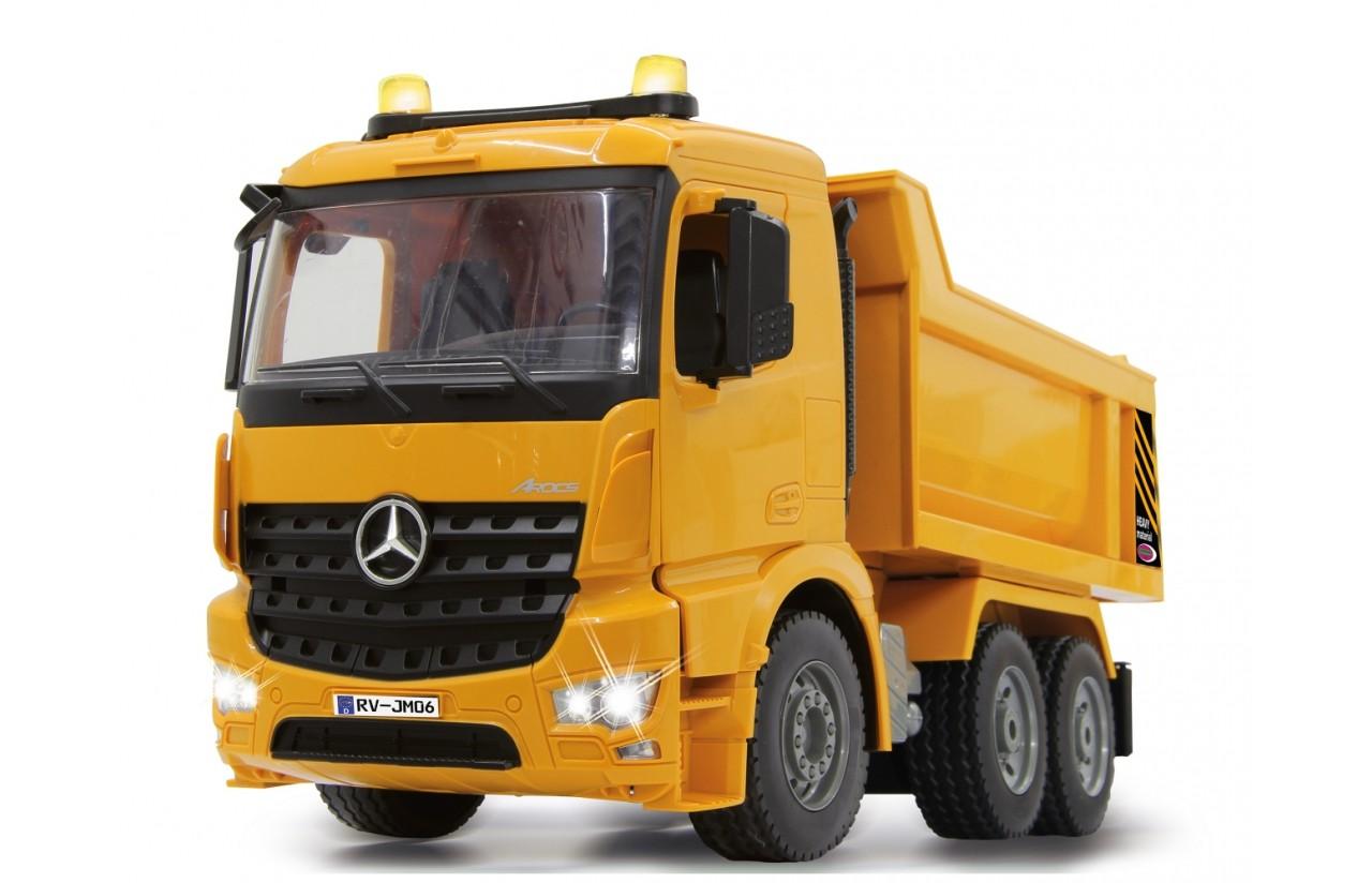 Mercedes-Benz Arocs DUMP TRUCK 4WD sklápěč, 1:20, licence, funkční korba, zvuk, LED, RTR