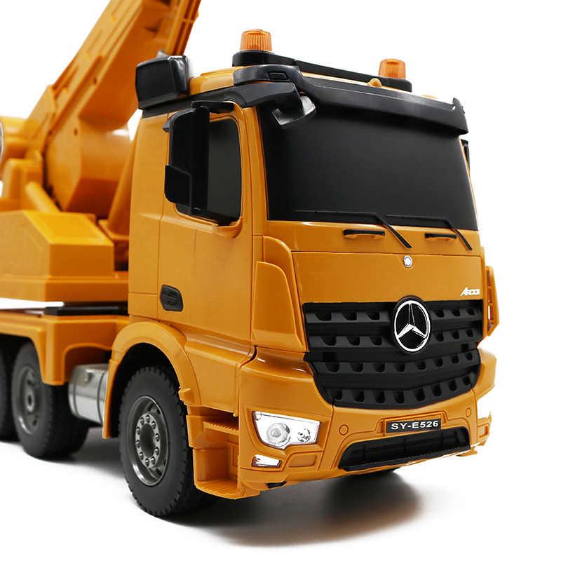Mercedes-Benz Arocs CRANE 4WD autojeřáb, 1:20, licencováno, funkční jeřáb, zvuk, LED, RTR