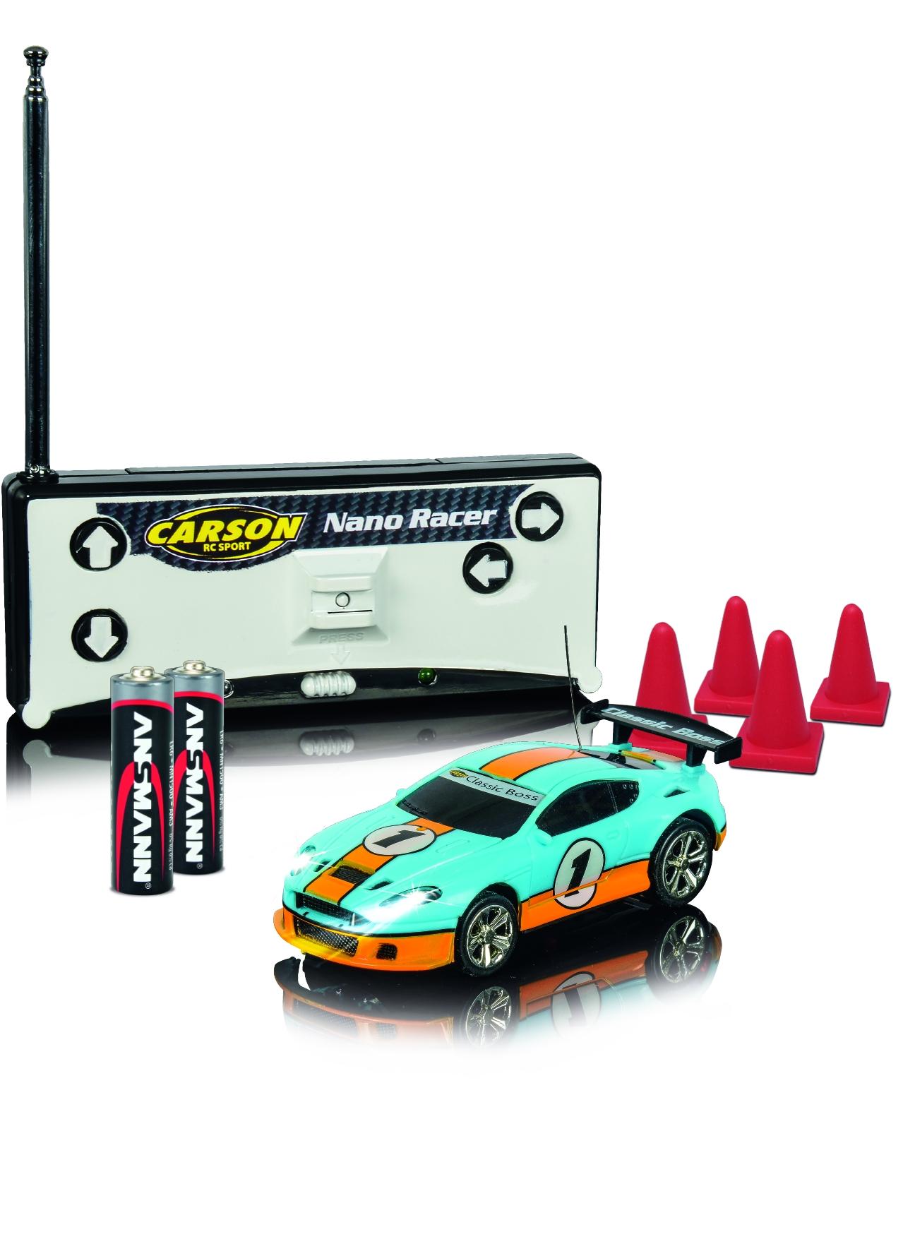 NANO RACER Classic Boss, 1:60, LED, zvukový modul, 4 kužely, 100% RTR