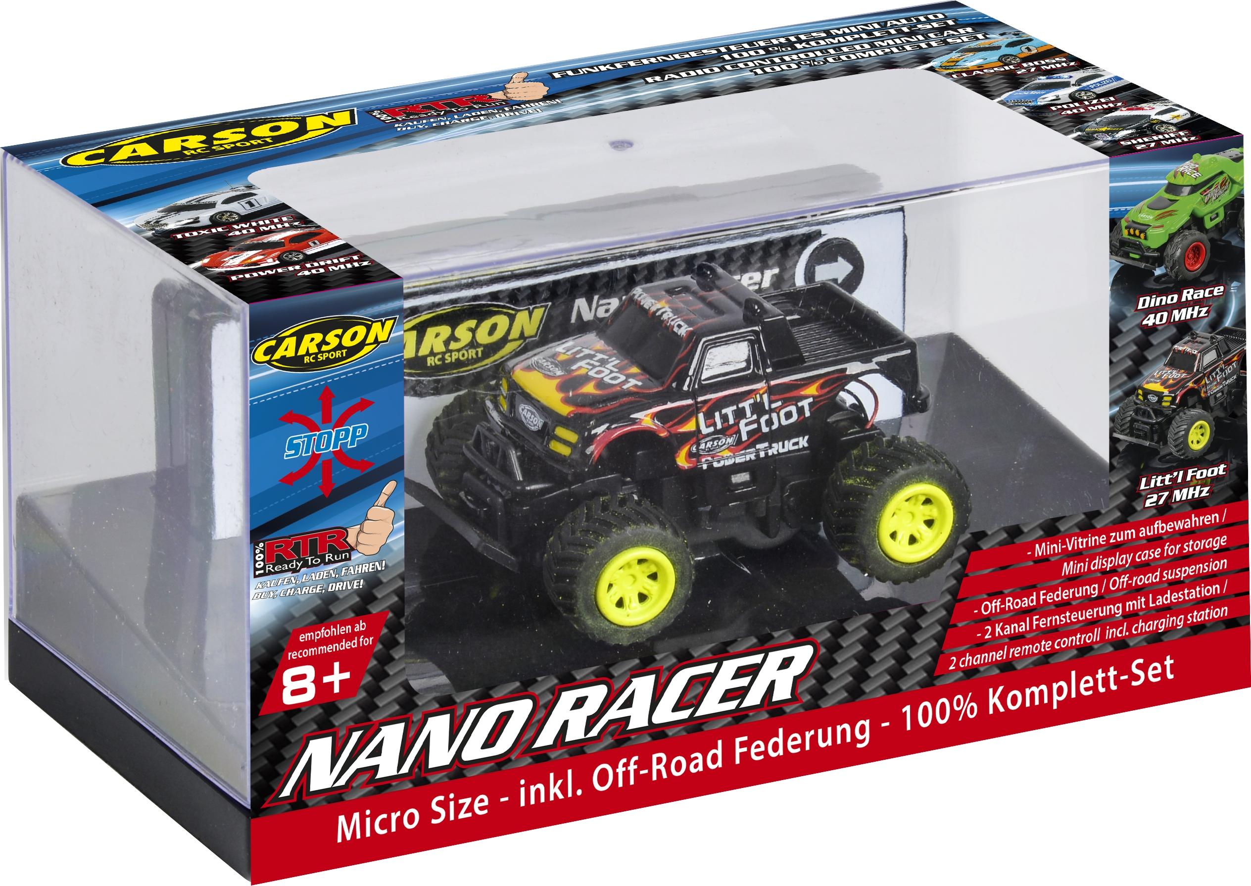 NANO RACER Litt´l Foot offroad, 1:60, 4 kužely, 100% RTR