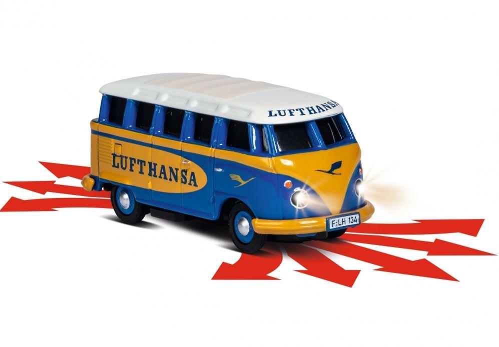 CARSON VW T1 Samba Bus Lufthansa 1:87, LED, plně proporcionální, 100% RTR