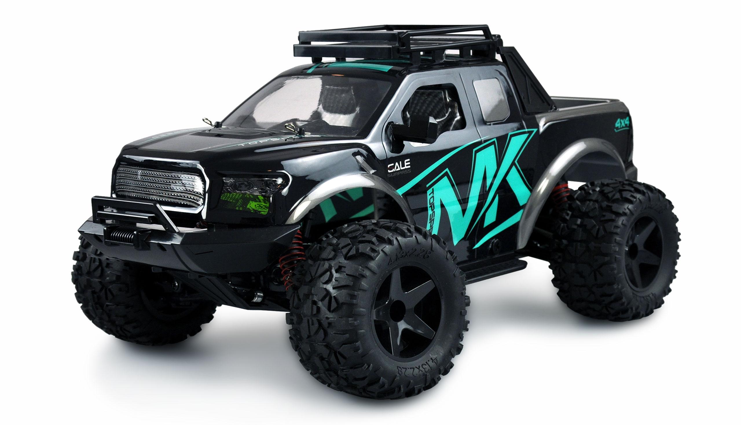 WARRIOR Desert Truck 4WD, 1:10, kovové tuningové díly, až 45 km/h, IPx4, RTR, tyrkysová