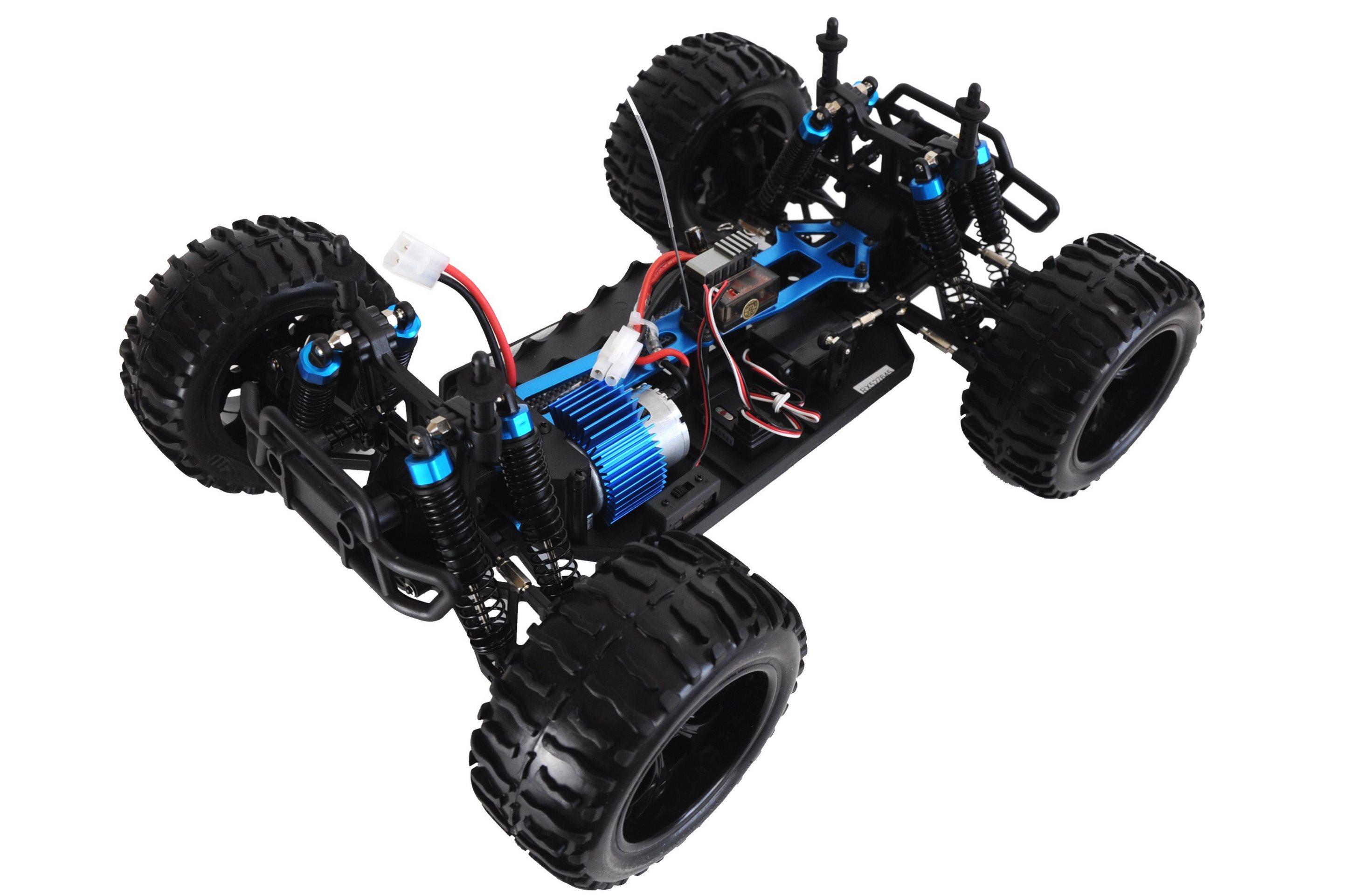 TORCHE MonsterTruck 4WD, 1:10, plně proporcionální, olejové hliníkové tlumiče, RTR