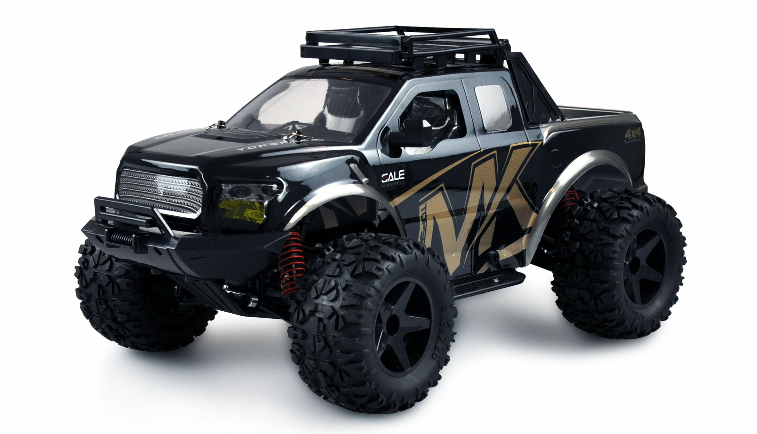 WARRIOR Desert Truck 4WD, 1:10, kovové tuningové díly, až 45 km/h, IPx4, RTR, zlatá