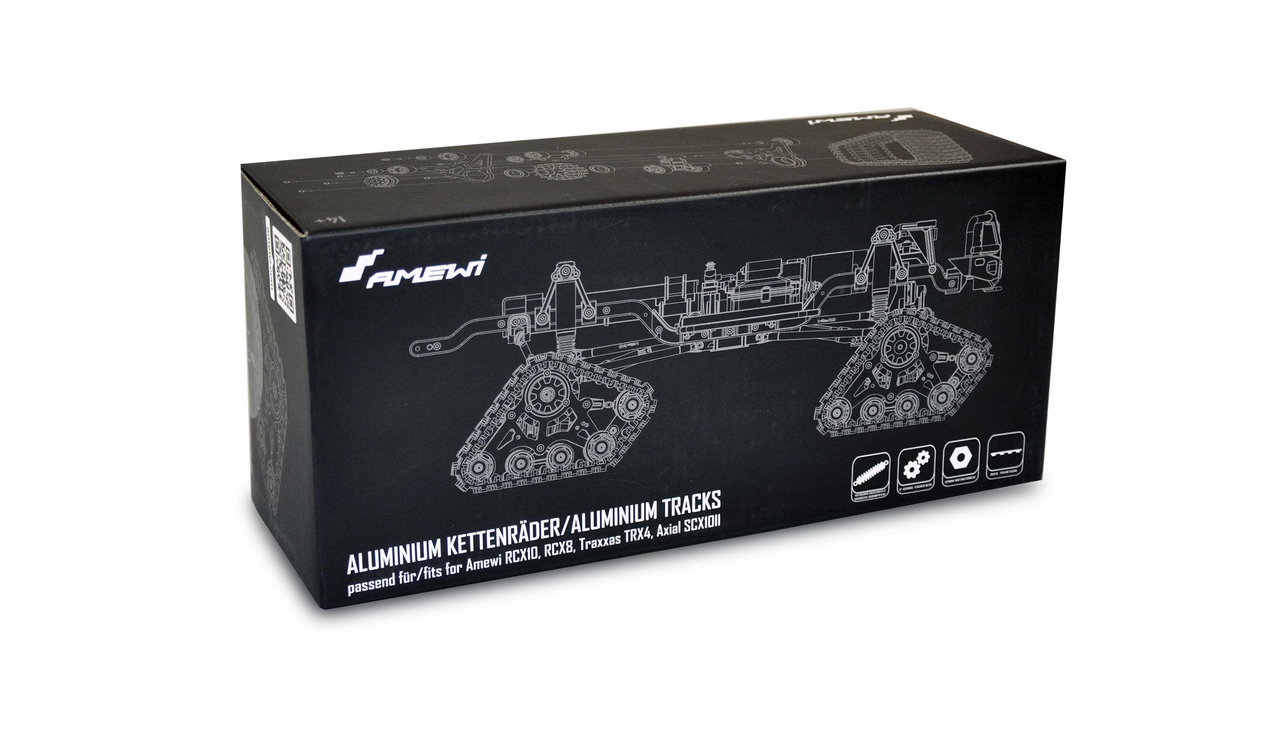 PROFI Pásy s olejovými tlumiči pro Amewi RCX10, RCX8, Traxxas TRX4, Axial SCX1011, černé