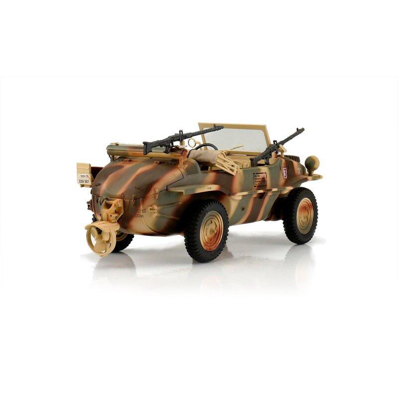 VW Schwimmwagen TYP 166 4WD, 1:16, proporcionální obojživelník, jezdí i plave, 100% RTR