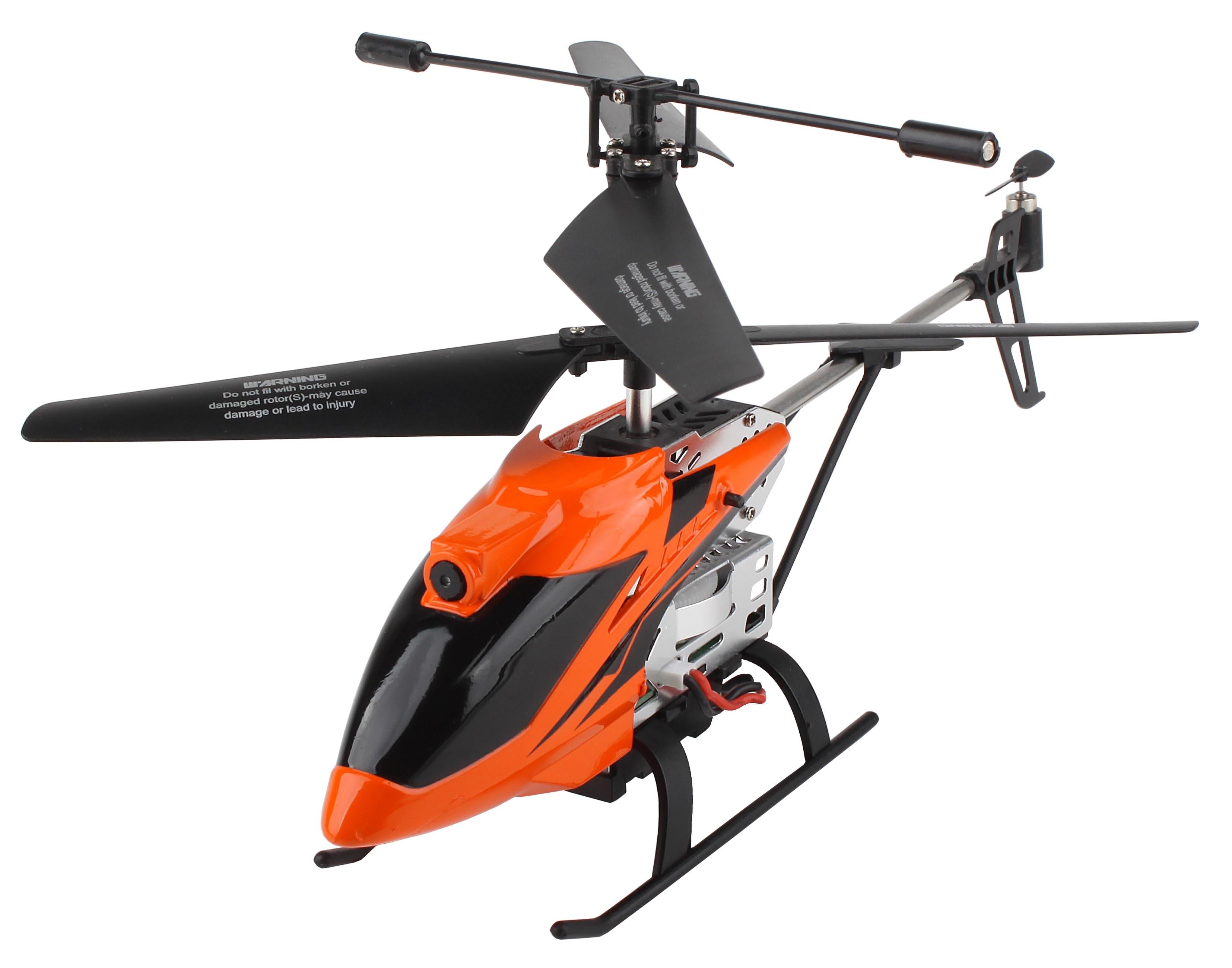 DF-100 FPV heli s barometrem, kamera, WiFi přenos obrazu, AUTO start/přistání, RTF