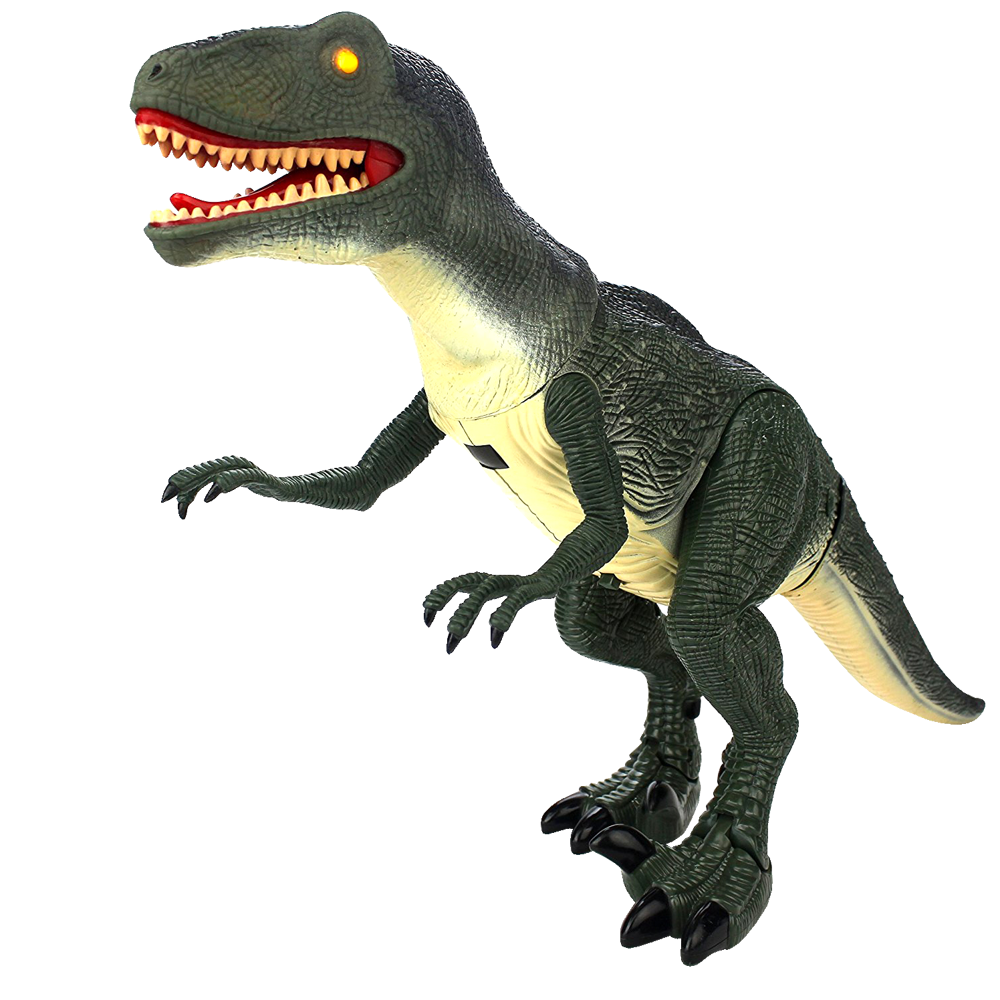 VELOCIRAPTOR RC Dinosaurus, IR ovládání, LED efekty, pohyblivé části, zvukové efekty, RTR